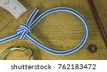 bowline sailor knot in maritime ... | Shutterstock . vector #762183472
