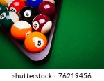 billiard balls   pool | Shutterstock . vector #76219456