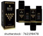 packaging design  black and... | Shutterstock .eps vector #762198478