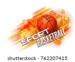 basketball points  lines ... | Shutterstock .eps vector #762207415