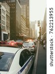 new york   july 28  police car... | Shutterstock . vector #762213955