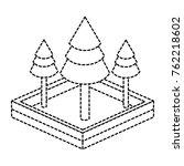 isometric pine tree design   Shutterstock .eps vector #762218602