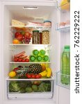Open Refrigerator Full With...