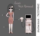 vector flat illustration of the ... | Shutterstock .eps vector #762234862