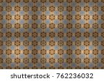 seamless floral pattern with... | Shutterstock . vector #762236032