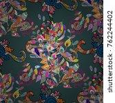 vector abstract pattern. hand... | Shutterstock .eps vector #762244402
