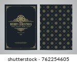 christmas greeting card design. ... | Shutterstock .eps vector #762254605