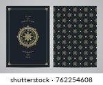 christmas greeting card design. ... | Shutterstock .eps vector #762254608