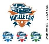 template of muscle car logo ... | Shutterstock .eps vector #762255208