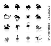 black,cloud,cloudy,cold,collection,day,drop,fog,forecast,hot,icon,illustration,isolated,lightning,meteorologist