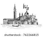 sketch liners vector italy... | Shutterstock .eps vector #762266815