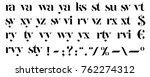 vector elegant letters... | Shutterstock .eps vector #762274312