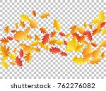 oak leaf abstract background... | Shutterstock .eps vector #762276082