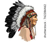 detailed  hand drawn  native... | Shutterstock .eps vector #762286462