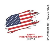 united states independence day...   Shutterstock .eps vector #762287026