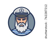 captain of the ship. sailor... | Shutterstock .eps vector #762287212