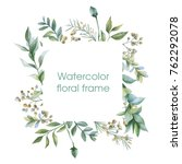 floral wreath. botanical... | Shutterstock . vector #762292078