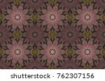 seamless vintage. raster cute... | Shutterstock . vector #762307156