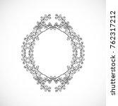 monochrome  delicate frame from ... | Shutterstock .eps vector #762317212