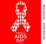 world aids day design... | Shutterstock .eps vector #762322336