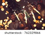 group of young friends having...   Shutterstock . vector #762329866