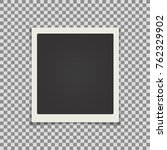 retro realistic photo card... | Shutterstock .eps vector #762329902