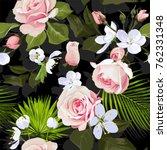 various blossom seamless...   Shutterstock .eps vector #762331348