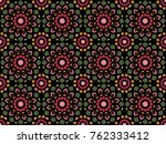abstract oriental pattern.... | Shutterstock .eps vector #762333412