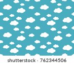 cute clouds pattern. endless... | Shutterstock .eps vector #762344506
