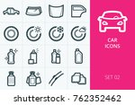 car icons set. set of tires ... | Shutterstock .eps vector #762352462