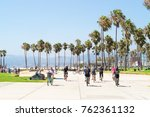 los angeles  usa   august 23 ... | Shutterstock . vector #762361132