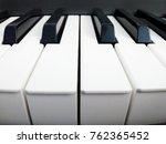 Piano Keys Clse Up