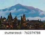 balinese sacred mountain agung...   Shutterstock . vector #762374788