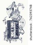 audio cassette  guitar music... | Shutterstock .eps vector #762393748