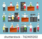 professional cooking decorative ... | Shutterstock . vector #762405202