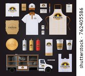 pizza restaurant chain... | Shutterstock . vector #762405586