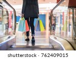 woman legs with colorful... | Shutterstock . vector #762409015