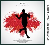 jogger  sport illustration with ... | Shutterstock .eps vector #762413896