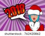 cartoon dare sexy girl blue... | Shutterstock .eps vector #762420862
