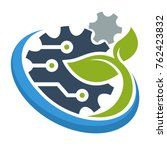 logo icon for green technology... | Shutterstock .eps vector #762423832