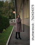 business woman walking on street | Shutterstock . vector #762424375