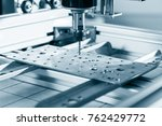 cnc milling machine working ... | Shutterstock . vector #762429772