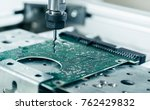 cnc milling machine working ... | Shutterstock . vector #762429832