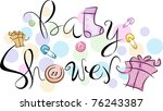 text featuring the words baby... | Shutterstock .eps vector #76243387