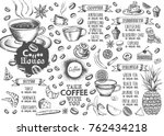 food menu for restaurant and... | Shutterstock .eps vector #762434218
