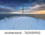 early morning at frozen and... | Shutterstock . vector #762434542