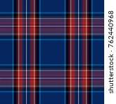 checkered woolen blue fabric....   Shutterstock .eps vector #762440968