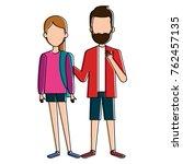 students couple avatars... | Shutterstock .eps vector #762457135