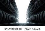 3d illustration  car tires rack ... | Shutterstock . vector #762472126