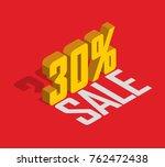 30  percent off  sale  golden... | Shutterstock .eps vector #762472438